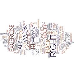 Flatten your abs text background word cloud vector