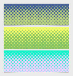 halftone dot pattern horizontal banner - graphic vector image