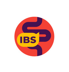 Ibs icon irritable bowel syndrome flat vector