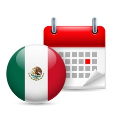 Icon of national day in mexico vector image
