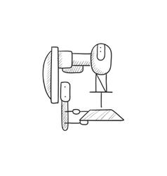 Industrial automated robot sketch icon vector image