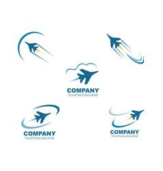 Jet plane logo icon design vector