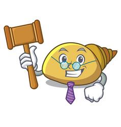 Judge mollusk shell mascot cartoon vector