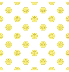 Label premium quality pattern cartoon style vector