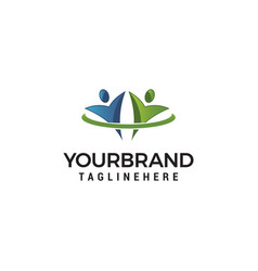 logo community icon element template design logos vector image