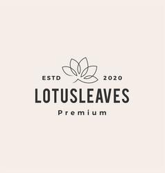 lotus leaf hipster vintage logo icon vector image