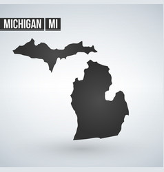 Map us state michigan vector