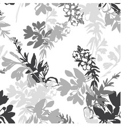 meadow flowers silhouettes background small vector image