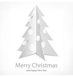 Metallic fir tree on white vector