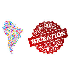 Migration composition of mosaic map of south vector