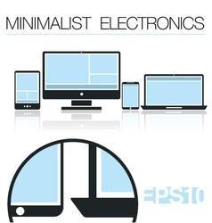 Minimalist Electronic Devices set vector image
