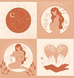 motherhood maternity pregnancy childbirth vector image