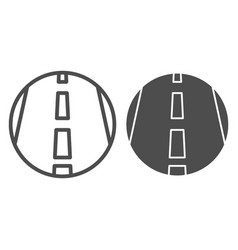 Motorway line and solid icon transportation vector