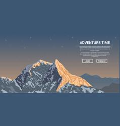 mountain peak landscape vector image