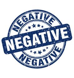 Negative blue grunge stamp vector