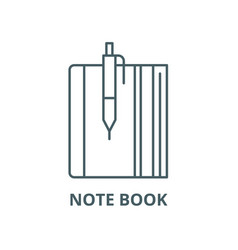 note book line icon linear concept vector image