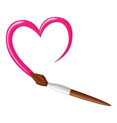 Paintbrush heart vector