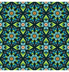 pattern rosette blue vector image