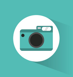Photographic camera picture vacations vector
