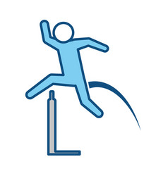 Pictogram man practice athletics sport vector