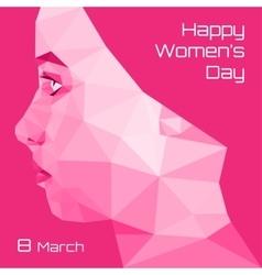 Profile of triangullar Girl Womens day vector