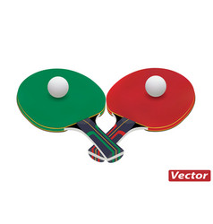 Racket for ping pong ball in vector