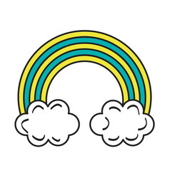 Rainbow sky isolated vector