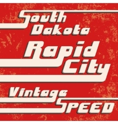 Rapid city vintage stamp vector
