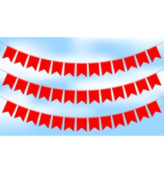 red bunting vector image