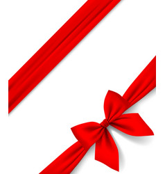 Red ribbon and bow isolated on white background vector