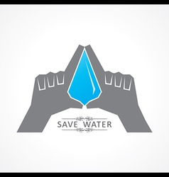Save nature concept with water drop vector image