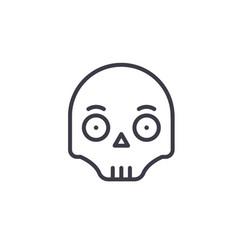 scull emoji concept line editable concept vector image
