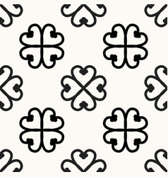 Seamless african adinkra pattern - black and white vector
