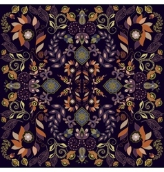 Seamless pattern Indian floral backdrop vector