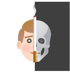 smoking is dangerous to your health vector image