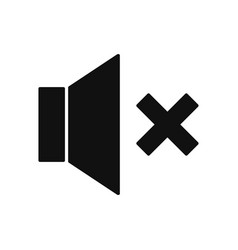 speaker mute icon in modern design style for web vector image