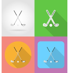 sport flat icons 02 vector image