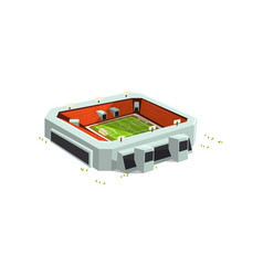 sports stadium building outdoor soccer or vector image