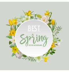 Spring Flowers and Leaves Background Graphic vector