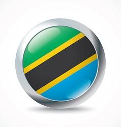 Tanzania flag button vector image