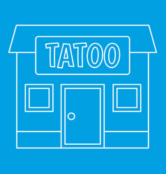 Tattoo salon building icon outline vector