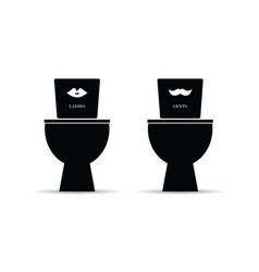 toilet for man and woman sign vector image