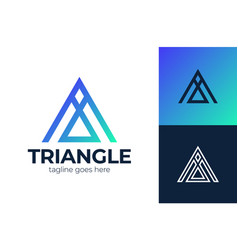 Triangle letter a logo a letter trinity icon logo vector
