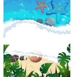 Tropical beach frame vector image