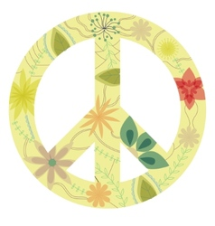 Vintage peace sign vector image