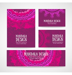 Business card Vintage decorative elements Hand vector image vector image