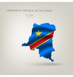 Flag of the Republic of the Congo as a country vector image vector image