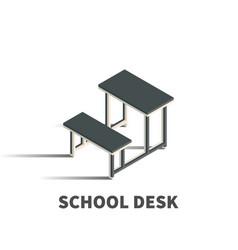 school desk icon symbol vector image vector image