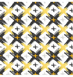 seamless pattern with grunge yellow and black vector image vector image