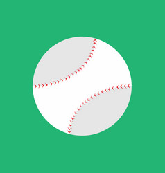 simple flat style baseball graphic vector image